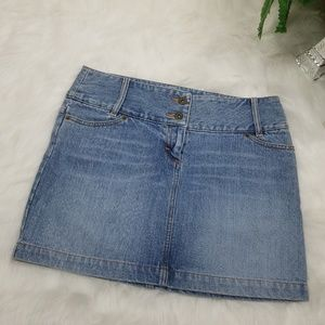 H&M JEAN MINI SKIRT BLUE SIZE 8
